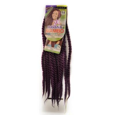 2X HAVANA MAMBO TWIST BRAID 24 Inch # purple