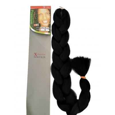 x-pression ultra hair braid 1b